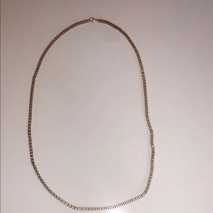 Jewelry - Box chain necklace in gold tone - it's a classic.